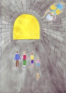 47 Rodina vychází z tunelu