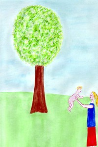 50 Madona pod rozkvetlým stromem